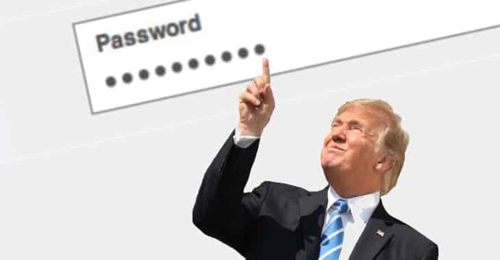 """""""Yourefired"""" - Donald Trump's poor password security"""