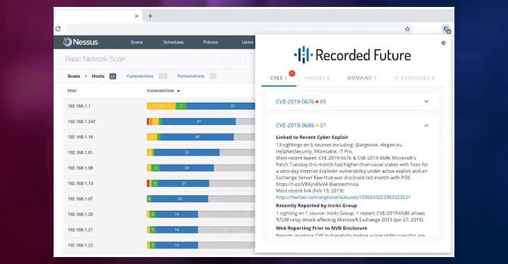 Elite security intelligence for zero cost. Meet the Recorded Future Express browser extension