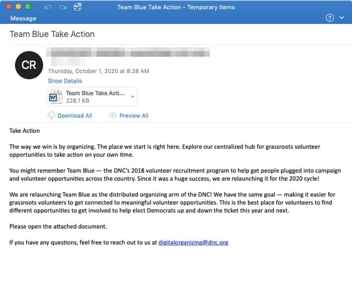 Team blue email