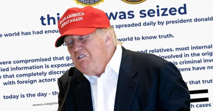 Donald Trump's website briefly defaced by cryptomining scammers