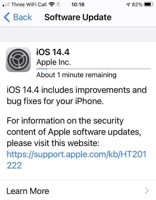 Ios 14 4 update