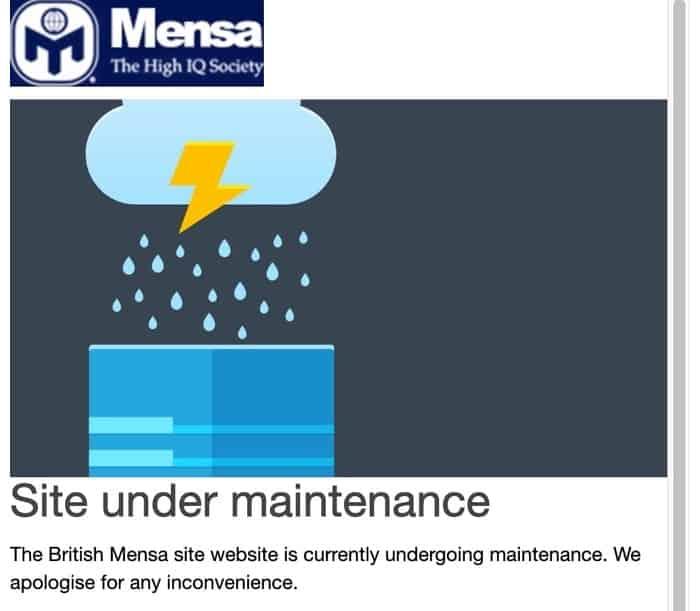 Mensa website