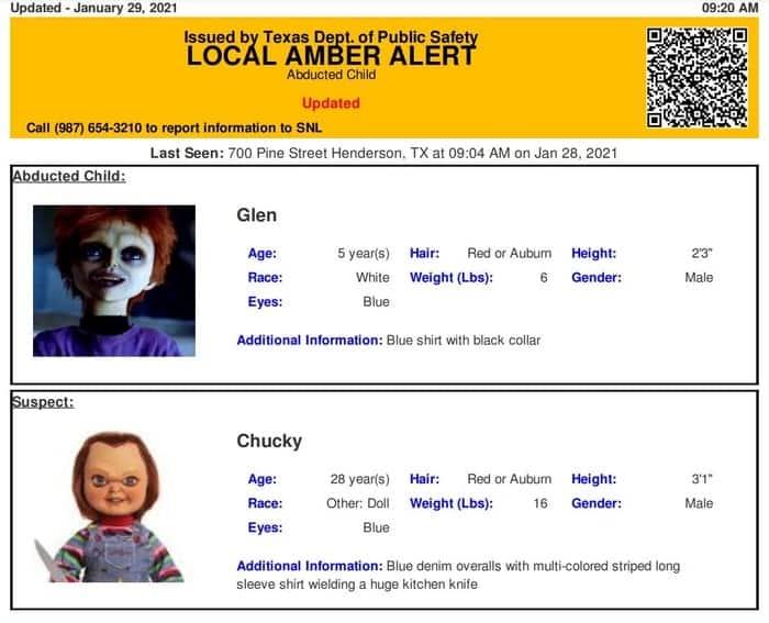 Amber alert test