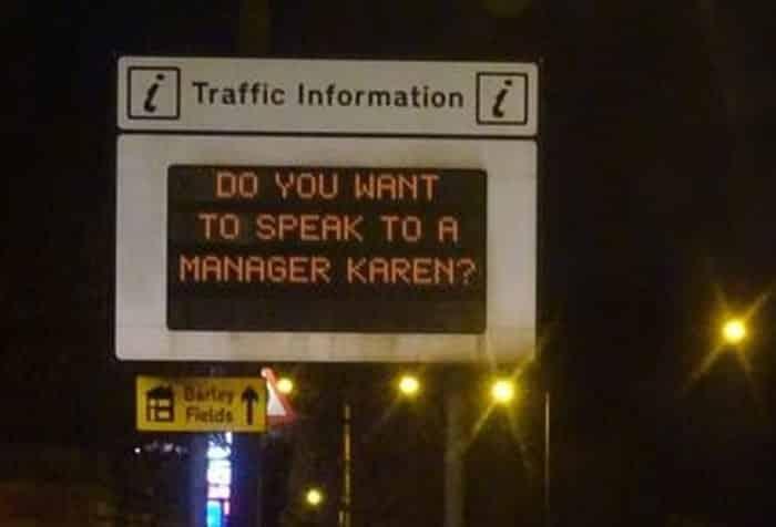 Karen message