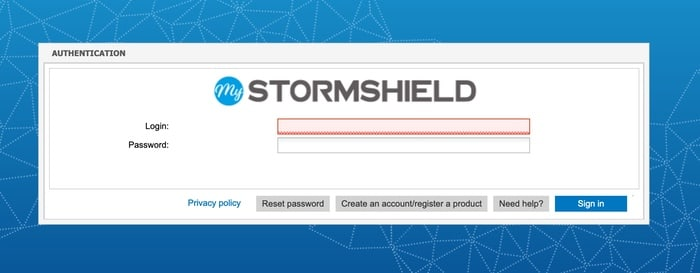 Stormshield portal