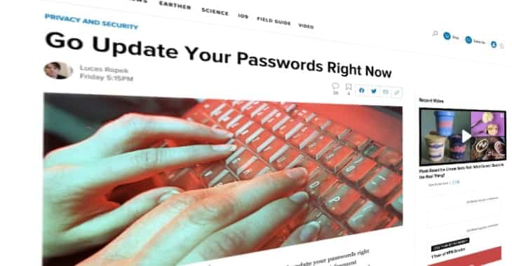 Gizmodo gives poor password advice