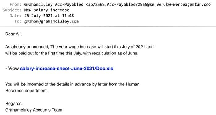 Wages email