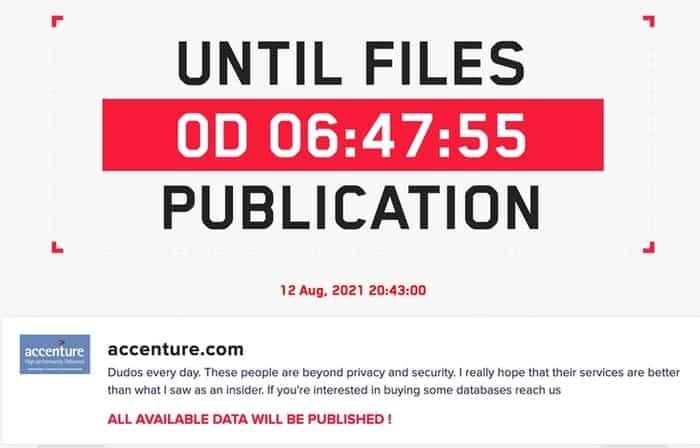 Accenture lockbit site